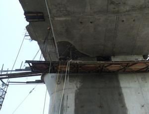桥梁临时支坐切割