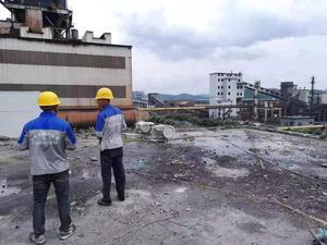 西林钢厂屋面拆除